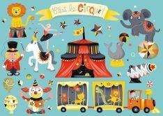 Sticker Postkarte Zirkus 2