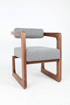 James occasional chair. Black walnut and tweed.  www.tomvousdendesign.co.uk