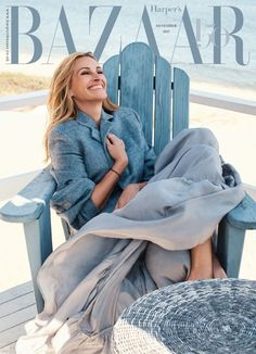 #JuliaRoberts wearing #VBAW17 Ready-to-Wear on the cover of Harper's Bazaar UK November issue. Shop the look in store at 36 Dover Street, London or head to www.victoriabeckham.com to browse the rest of the collection.