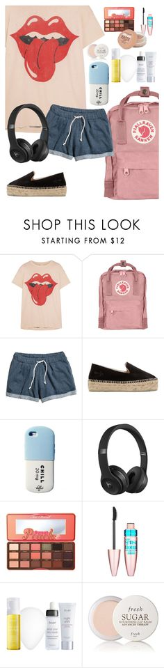 """Happy Friday!"" by elliewriter ❤ liked on Polyvore featuring MadeWorn, Fjällräven, H&M, Manebí, Beats by Dr. Dre, Too Faced Cosmetics, Maybelline, Julep and Fresh"