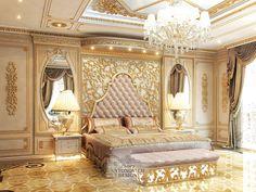 Luxury Home Interiors - High End Designers interni Royal Bedroom, Master Bedroom, Bedroom Decor, Luxury Homes Interior, Home Interior Design, Rich Home, Modern Bedroom Design, Luxurious Bedrooms, Beautiful Bedrooms
