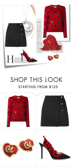 """""""Love is still in the air"""" by micettes ❤ liked on Polyvore featuring Post-It, Burberry, Yves Saint Laurent, Christian Lacroix, Charlotte Olympia and Tiffany & Co."""