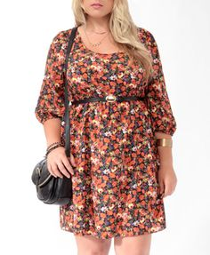 $24.80 Floral Zipper Dress   Forever 21+  I'm not a huge dress person but I love the idea of pairing a floral dress with leggings and boots for the Fall.