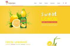 Juice Website Design | We Love Free PSD
