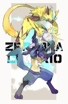 Zeraora and Lucario Mega Pokemon, Pokemon Eeveelutions, Pokemon Comics, Pokemon Funny, Pokemon Stuff, Pokemon Fusion Art, Pokemon Fan Art, Pokemon Images, Pokemon Pictures