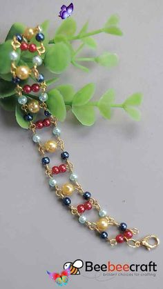 Glass Pearl Beads #Beebeecraft idea on #bracelet making with #pearl beads<br>