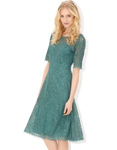 Lisha Lace Dress | Green | Monsoon