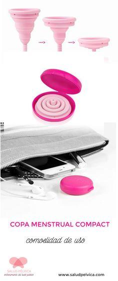 COPA MENSTRUAL INTIMINA COMPACT CUP: cómodo de uso e higiénico. www.saludpelvica.com