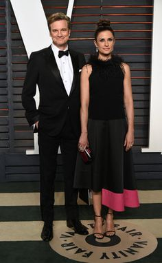 Oscars 2016: Eco-Age founder Livia Firth and husband Colin Firth wear Green Carpet Challenge attire and accessories to Vanity Fair Party