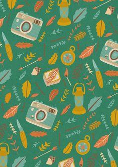 Camping kit pattern  by Naomi Wilkinson / UK
