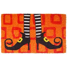 Entryways Handmade Wicked Witch Shoes Doormat | Wayfair