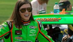 Danica Patrick is all smiles at Chicagoland. View more photos from Chicago here: http://www.stewarthaasracing.com/fan/galleries/2012_geico_400/