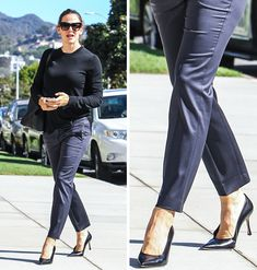 """12 Basic Clothing Items That Could Help You Ditch Your """"What Should I Wear"""" Problem Rock Boots, Shirt Tucked In, What Should I Wear, Oversized Blazer, Katie Holmes, Black Trousers, Basic Outfits, Military Fashion, Black Pumps"""