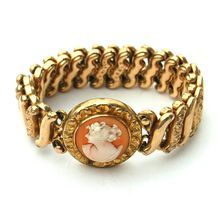 Early Carmen DF BRIGGS Co Cameo Sweetheart Expansion Bracelet from Sunnyside Farms Antiques on Ruby Lane