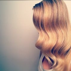 Get waves by pinning curls to head after using a hot tool. When done, take pins out and gently brush.