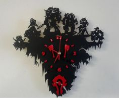 Warcraft Horde wooden wall clock от LordOfInk на Etsy