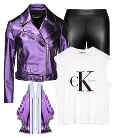 """""""Metallic x Leather"""" by shaniquajenae ❤ liked on Polyvore featuring Studio, Boutique Moschino, Forfex, Calvin Klein, women's clothing, women's fashion, women, female, woman and misses"""