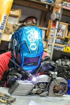 Bagger motorcycle cold hard art welding metal art sculpture