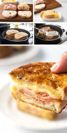 Monte Cristo Sandwich (Ham Cheese French Toast) Monte Cristo Sandwich (Ham Cheese French Toast) – It's a french toast version of ham & cheese sandwich. Great way to use up leftover Christmas ham. French Toast Sandwich, Roast Beef Sandwich, Chicken Sandwich, Christmas Ham, Recipetin Eats, Breakfast Recipes, Mexican Breakfast, Breakfast Pizza, Breakfast Bowls