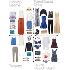 What To Wear On A Cruise by emily-mcnab on Polyvore featuring Abercrombie & Fitch, Adrianna Papell, Oasis, Violeta by Mango, Closet, ONLY, Dorothy Perkins, Coast, Armani Jeans and Linea Weekend