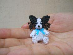 Papillon - Crochet miniatura perro peluches - por encargo