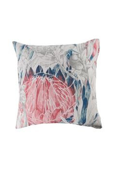 Printed Pastel Protea Feather 60x60cm Scatter Cushion