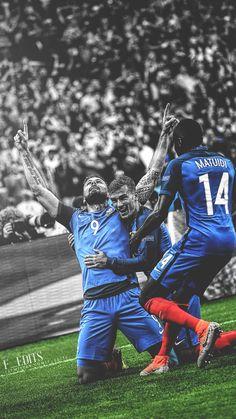 Giroud - Griezmann - Matuidi France National Football Team, France National Team, Football Players Images, Good Soccer Players, World Football, Football Soccer, France Fifa, Giroud, Antoine Griezmann