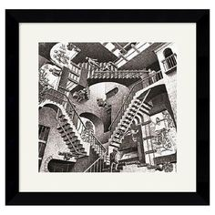 Relativity Framed Print by M.C. Escher at Joss & Main