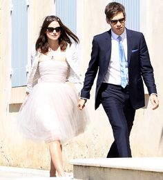 Keira Knightley married Klaxons beau James Righton in a low-key ceremony at town hall in Mazan, a small town outside of Marseille.