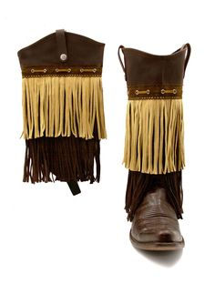 Two-Toned Tan Fringe cowgirl boots