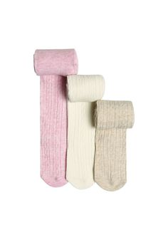 Clothing at Tesco   F&F 3 Pack of Cable Knit Tights > hosiery > Baby Girls > Baby