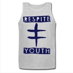 'Youth' Tank  http://respiteclothingco.spreadshirt.com/men-s-tank-top-A12522300/customize/color/231  #skatelife #skateboarding #clothing #tanktop #tank #summer #sleeveless #youth #logo #respite #breathe #blue #fashion #mens #guys