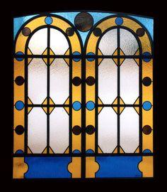 Vetrata in vetro cattedrale legato in piombo ricostruita con disegno e tecnica originali #Stained-glass