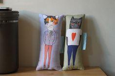 Pillow set Boyfriend Girlfriend by nicolaclare7 on Etsy, £20.00