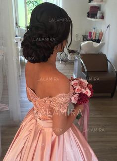 Item:Pink Ball Gowns Occasion:Prom,Evening,Formal,Quinceanera,Wedding Process Ti… – My CMS Quince Hairstyles, Best Wedding Hairstyles, Bride Hairstyles, Sweet 16 Hairstyles, Bridesmaid Hairstyles, Updo Hairstyle, Quince Dresses, Ball Dresses, Ball Gowns