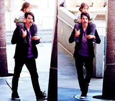 Anthony Kiedis, the way he takes care of his baby, god they're so cute, Everly is the cutest little thing ever!