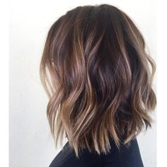 Tortoise shell wavy bob  Like this cut, maybe this color but slightly lighter or…