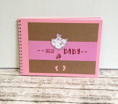 Fotoalbum & Gästebuch - Babyalbum A5 für Mädchen - ein Designerstück von POMMPLA bei DaWanda