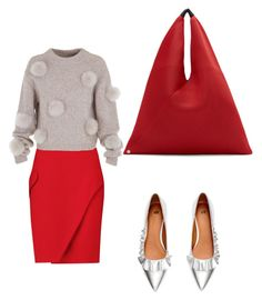 """""""Red color"""" by nataliya-mostriansky on Polyvore featuring MM6 Maison Margiela, Carven and TIBI"""