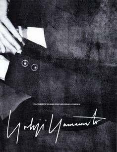 Yohji Yamamoto 1989 - by Max Vadukul