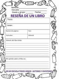 Resultado de imagen para reporte de lectura para niños