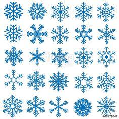 Vektor: Snowflakes Set - 25 Illustrations