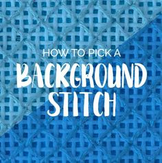 Background Stitch