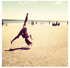 #gymnastics #tumbling #beach