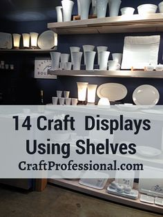 Booth Display Ideas - 14 Photos of Creative Shelves in Craft Booths - http://www.craftprofessional.com/booth-display-ideas.html