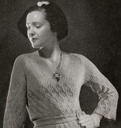 Vintage Knitting Pattern PDF Minerva's by VintagePatternPlace