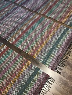 Rag Rugs, Recycled Fabric, Woven Rug, Scandinavian Style, Pattern Design, Weaving, Farmhouse Rugs, Rug Weaves, Knit Rug