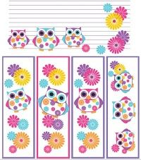 The Summer Owls set features owls in beautiful summer inspired colors and includes 6 book plates of each design), 4 different bookmarks and 2 journal pages. The set is perfect for kids and for school teachers for their classroom. Filofax, Owl Crafts, Paper Crafts, Owl Theme Classroom, Classroom Teacher, Classroom Ideas, Owl Always Love You, Cute Owl, Colouring Pages