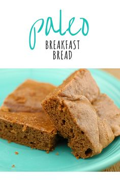 Almond butter is the base of this flourless bread recipe. Paleo Breakfast Bread is gluten-free, easy to make, and has only 7 healthy ingredients! It's the perfect paleo breakfast recipe when served with a side of eggs.