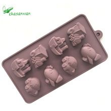 Kitchen Accessories 3D Vehicles Silicone Chocolate Mold Silicone Mold Silicone Forms Cake Decorating Tools for Kitchen Goods.b(China)
